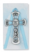 Nursery Cross for Baby Boy, 3.5 inches