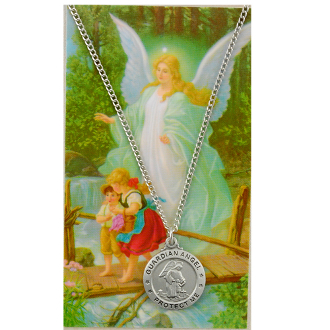 Guardian Angel Medal and Prayer Card Set