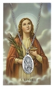 Saint Lucy Medal and Prayer Card Set