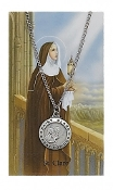 Saint Clare Medal and Prayer Card Set