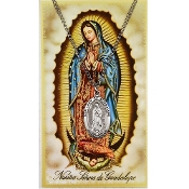 Our Lady of Guadalupe Medal and Spanish Prayer Card Set