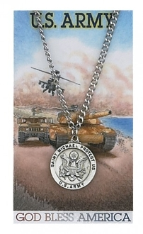 U.S. Army Prayer Card Set with Saint Michael Medal