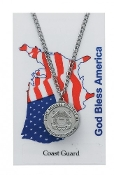 U.S. Coast Guard Prayer Card Set with Saint Michael Medal