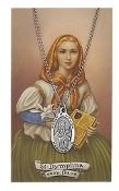 Saint Dymphna Medal and Prayer Card Set