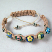 "Shamballa ""Flower Days III"" Ceramic Adjustable Bracelet"