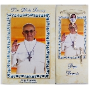 Pope Francis Imitation Pearl Rosary with Booklet
