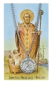 Saint Nicholas Pendant and Prayer Card Set
