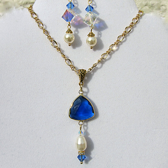 Faux Sapphire And Crystal Set Fashion Jewelry Jewelry & Watches