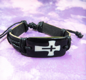 Cross-In-Cross Adjustable Leather Bracelet