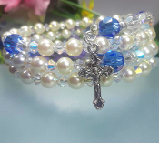 Rosary Wrap Bracelet with Swarovski Crystals