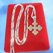 Sterling Silver Maltese Cross 20 Inch Necklace